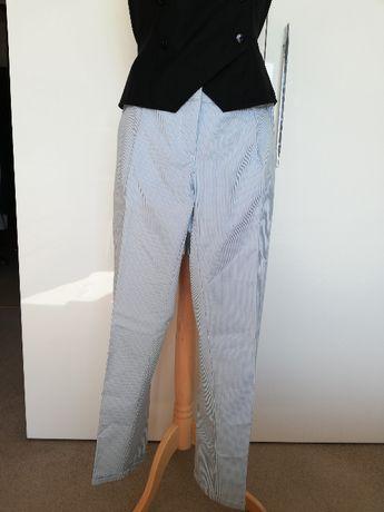 Spodnie w prążki Mohito 38