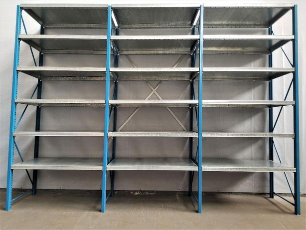 REGAŁ 60x290x303cm/24p Metalowy Magazynowy Półkowy Garażowy