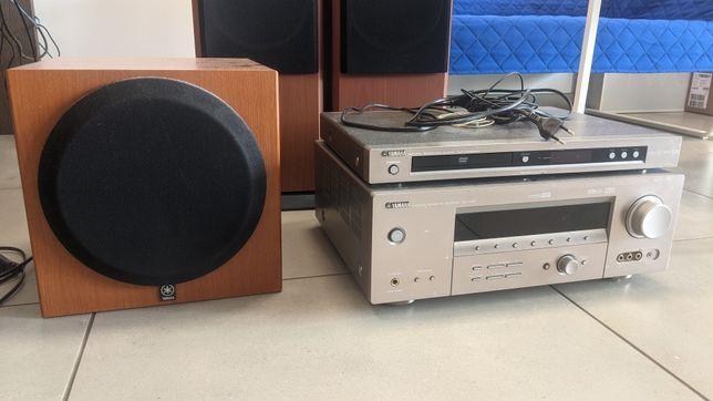 Kino domowe YAMAHA RX-V459 + DVD + głośniki Prism +subwoofer YST-SW012