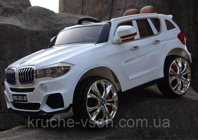 Джип BMW X5 M 2762 (mp4), детский электромобиль, колеса EVA, эко-кожа