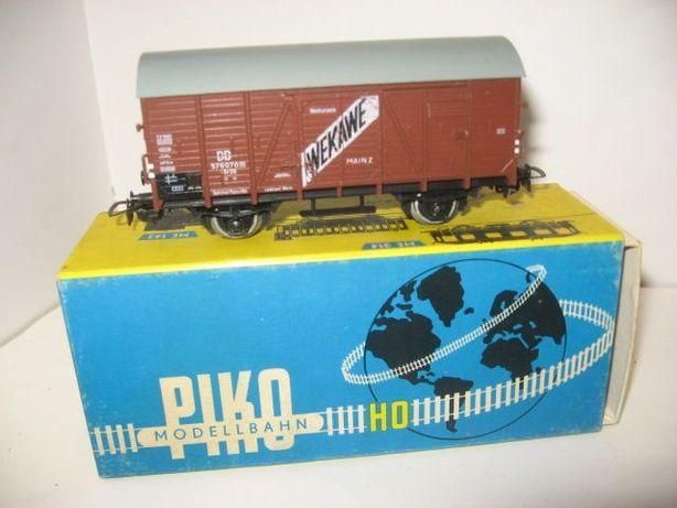 Крытый вагон Piko. Железная дорога Пико масштаб НО 1.87