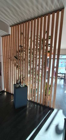 Divisórias de ambientes em madeira