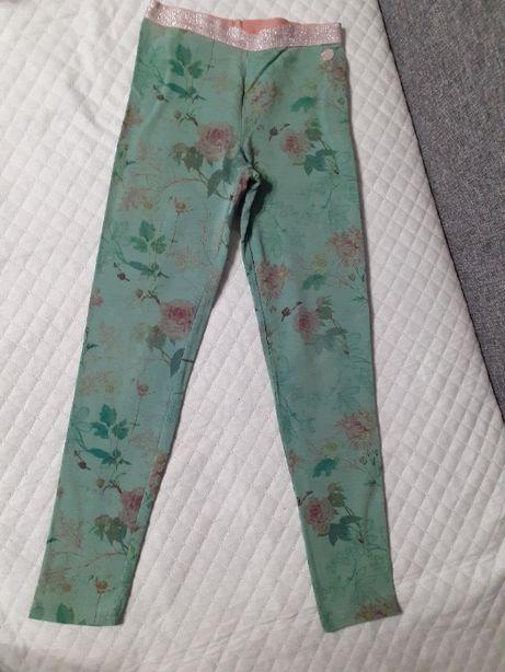 spodnie legginsy dla dziewczynki dziewczęce r. 146