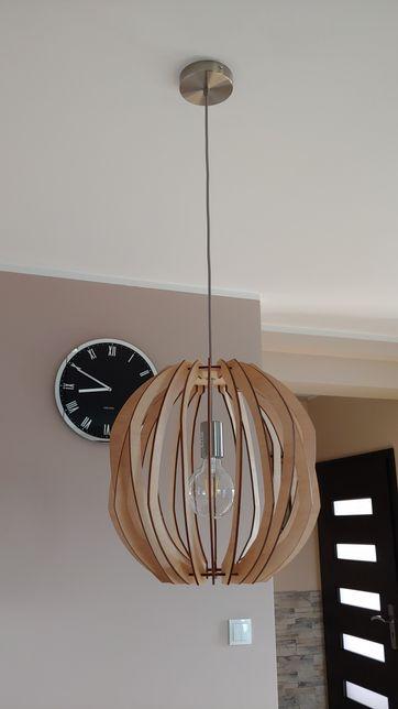 Drewniana Lampa Wisząca Dąb + żarówka LED