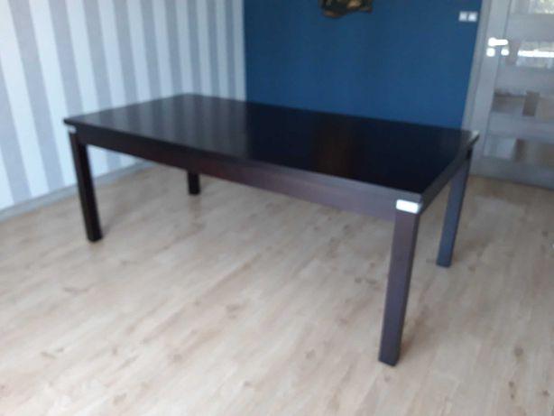 Duży Stół Drewniany Rozkladany kolor ciemny brąz czekolada