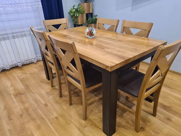 Stół dębowy loft