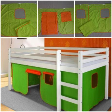 Zasłona do łóżka piętrowego - domek materiałowy