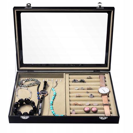 Szkatułka pudełko organizer na bransoletki i pierścionki taca E6