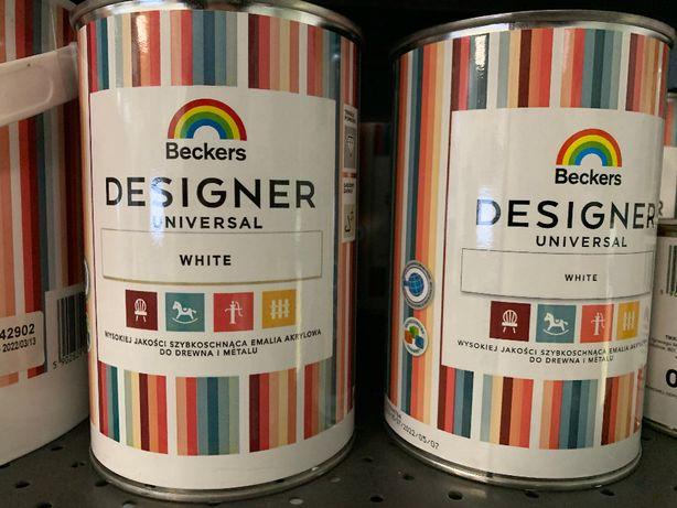 Farba do mebli Beckers Universal biała 1L