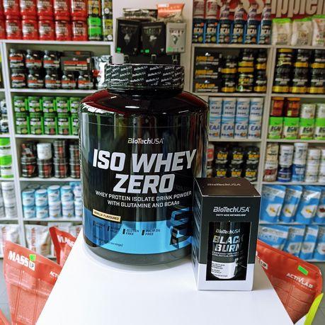Biotech ISO Whey Zero 2270g Izolat białka WPI Gratis Spalacz Tłuszczu
