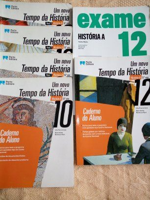 Livros de história A 12 ano (também tenho os do 10 )