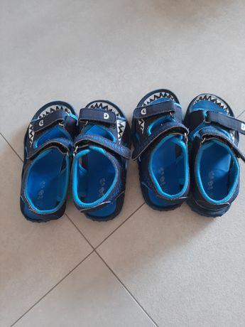 Sandały bliźniaki lub do przedszkola lekkie 27 rozmiar