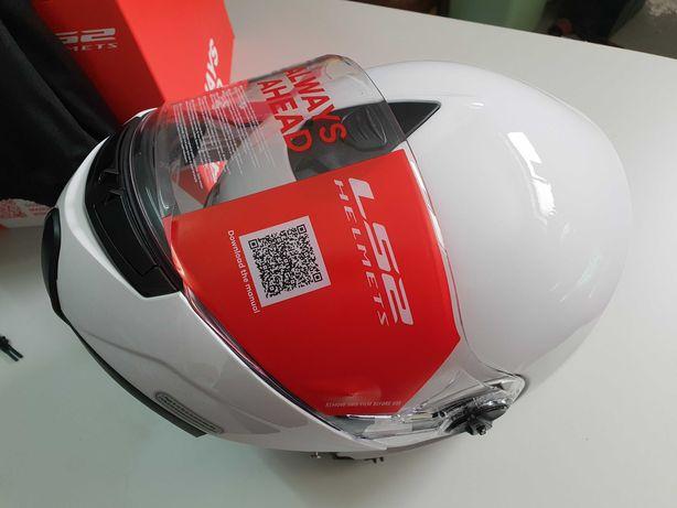Capacete LS2 Modular Novo XL + luvas em pele