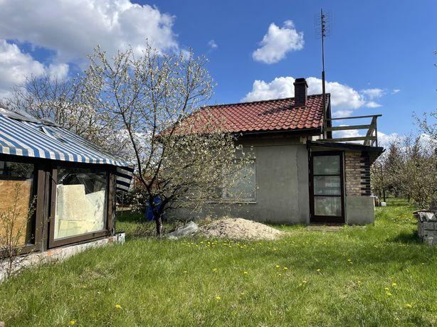 Działka rekreacyjna, ogrodowa ROD, domek całoroczny do dokończenia.