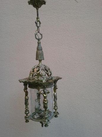 Candeeiro antigo de tecto (lanterna)