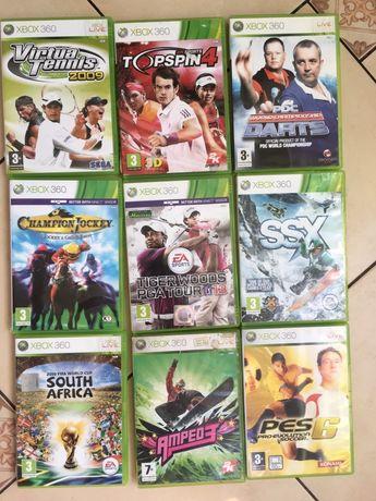 Xbox 360 gry sportowe golf , tenis, rzutki, snowboard ,PES