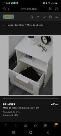 Mesas cabeceira Ikea Brimnes