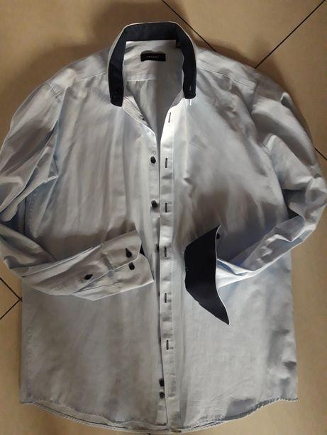 LAVARD koszula slim męska błękitna święta 41 176/182