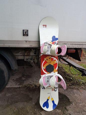 Deska i buty snowboardowa Crazy Creek 118cm z wiazaniami