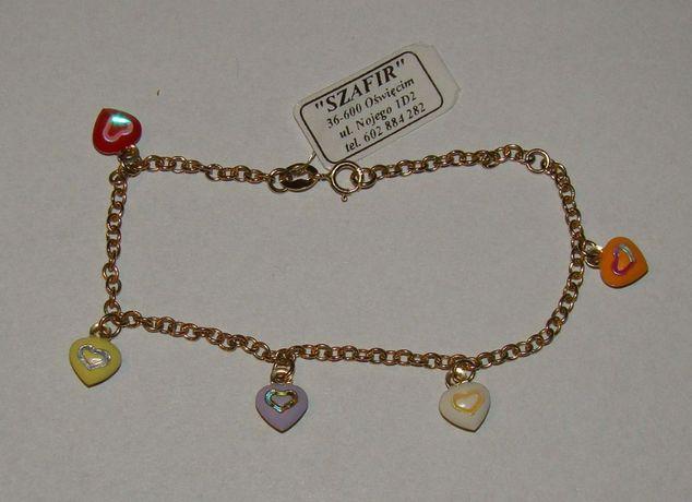 Złota bransoletka 14 karat próby 585-Firma Szafir-Wzór 99
