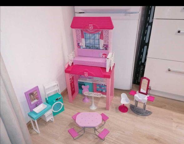 Domek dla lalek barbie dreamhouse i salon fryzjerski