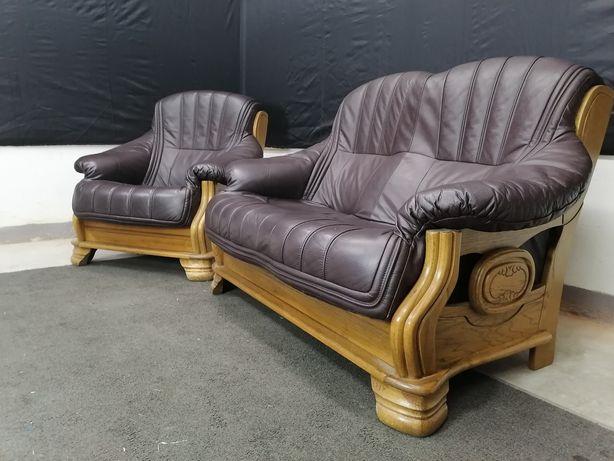 шкіряний комплект, гарнітур. диван, крісло