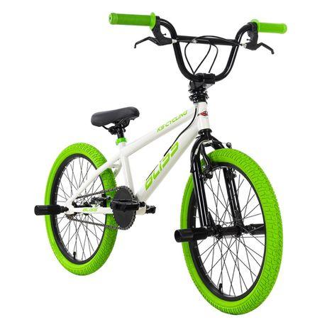 """PREZENT NA KOMUNIE! Rower BMX Freestyle 20"""" Biało-zielony 4 PEGI"""