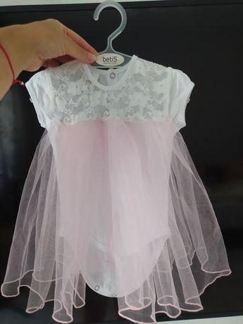 Бодик нарядный 62 р 1,5-3 мес платье принцессы
