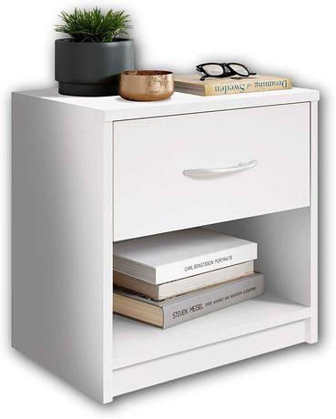 OUTLET - szafka szafeczka nocna do sypialni przedpokoju biała szuflada