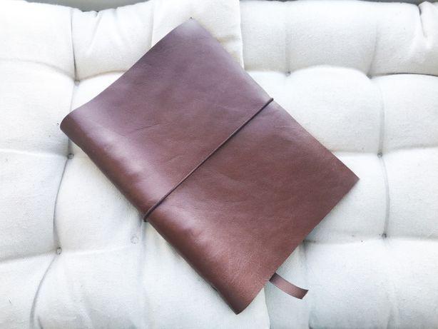 Блокнот кожаный записная книжка скетчбук на кольцах лучший подарок