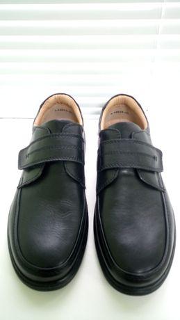 Туфли мокасины кожаные на липучке Pavers. Производство Великобритания