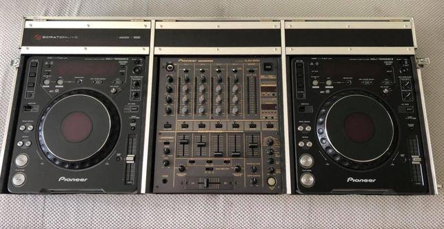 Zestaw DJ Pioneer CDJ1000Mk3 x2 + DJM600 + skrzynia Case-Pack