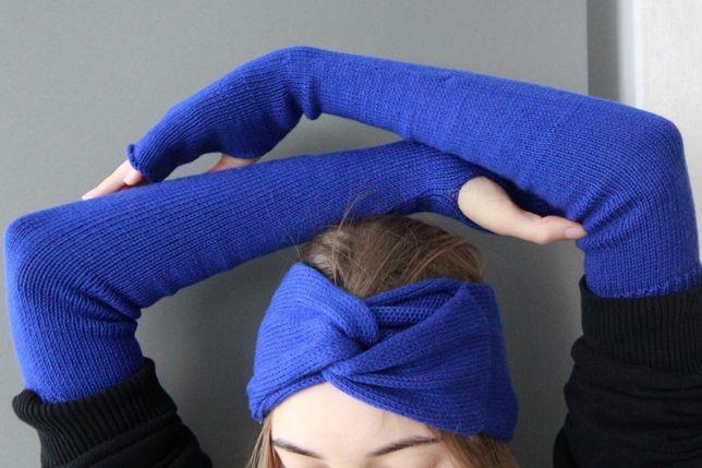 Модные высокие перчатки без пальцев