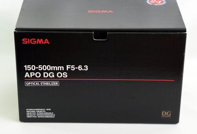 Teleobiektyw SIGMA 150-500mm F/5-6.3 APO HSM DG dla SONY DSLRs