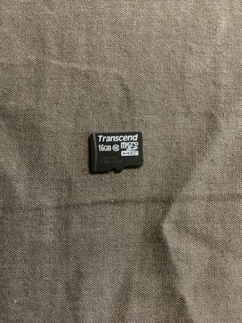 Карта памяти Transcent 16 gb micro