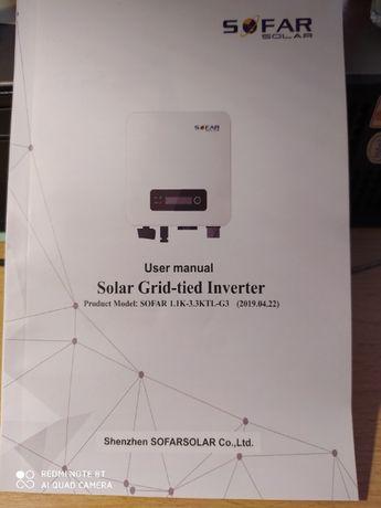 Falownik inwerter do fotowoltaiki firmy Sofar Solar model 1,1K-3KTL-G
