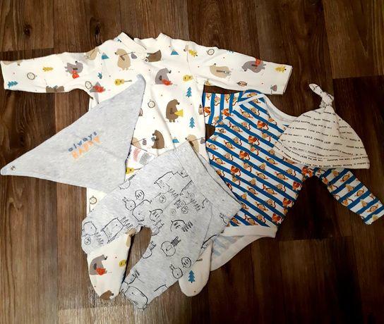Боди,человечек,штаны,шапочка,слюнявчик на малыша 0-3
