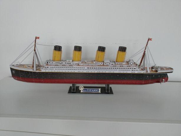 Duży model Titanic Puzzle 3D
