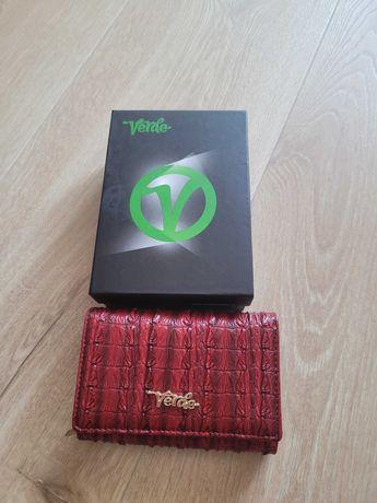 NOWY: nieużywany, czerwony portfel Verde