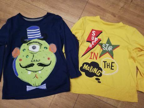 Cool Club bluzeczki  t-shirt długi rękaw r 116-122 jak nowe