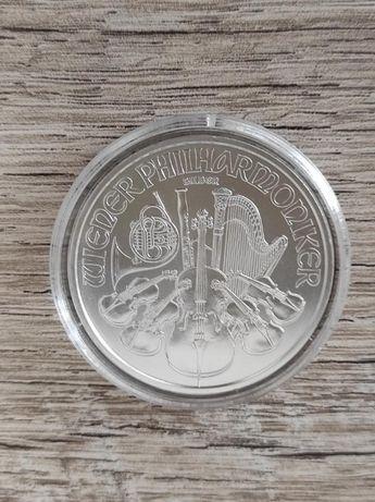 Серебряная монета 2021Австрии-венский Филармоникер/Филармония 1,5 евро