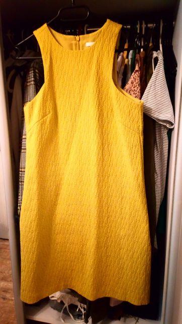 Sukienka musztardowa H&m