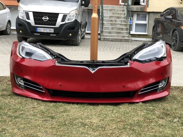 Tesla Model S 2016 Бампер радиатор телевизор проводка туманка разборка