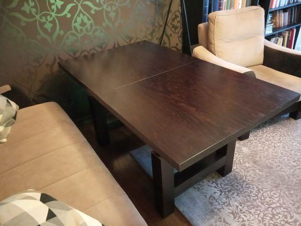 Stół rozkładany 80x140 do 190 cm regulowany ciemny brąz