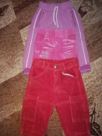 Продам штанці для дівчинки (джинсові, велюрові, і спортивні)