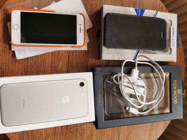 IPhone 7 Silver 32 GB Idealny Stan Obudowy.