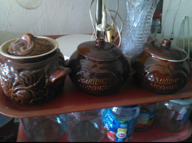 горшочки глиняные  для запекания блюд в духовке