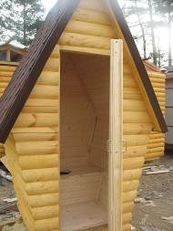 Дачный туалет. Душевые кабины.