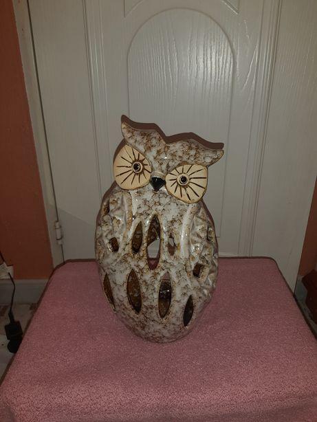Sowa ceramiczna na swiece