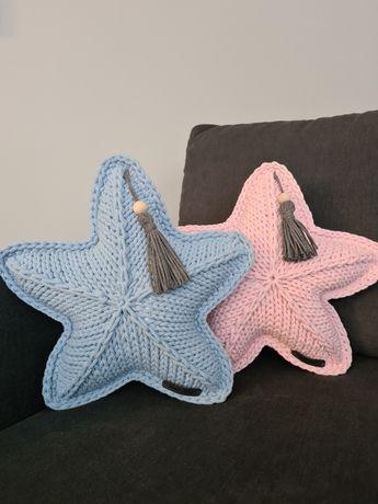 Poduszka gwiazdka ze sznurka bawełnianego